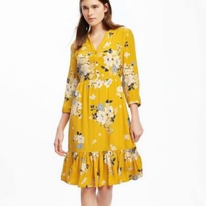Old Navy yellow floral dress